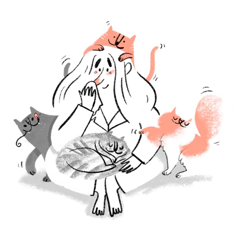 allergic gemma with by cats